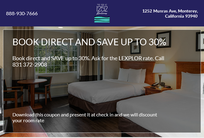 Book Direct & Save 15% off your stay
